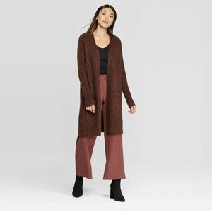 Open Front Cardigan Prologue Brown Acrylic Small